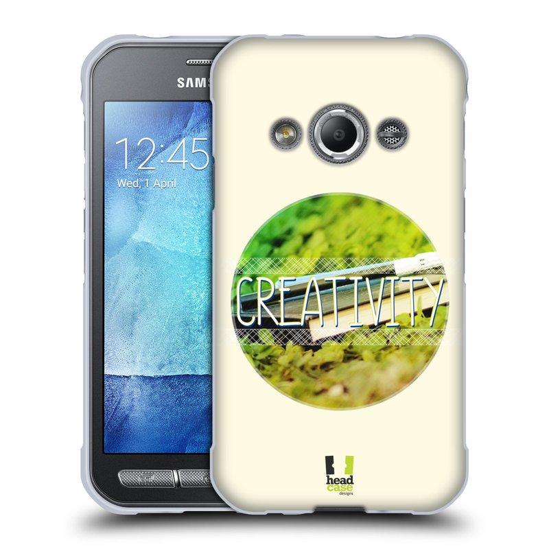 Silikonové pouzdro na mobil Samsung Galaxy Xcover 3 HEAD CASE INSPIRACE V KRUHU KREATIVITA (Silikonový kryt či obal na mobilní telefon Samsung Galaxy Xcover 3 SM-G388F)