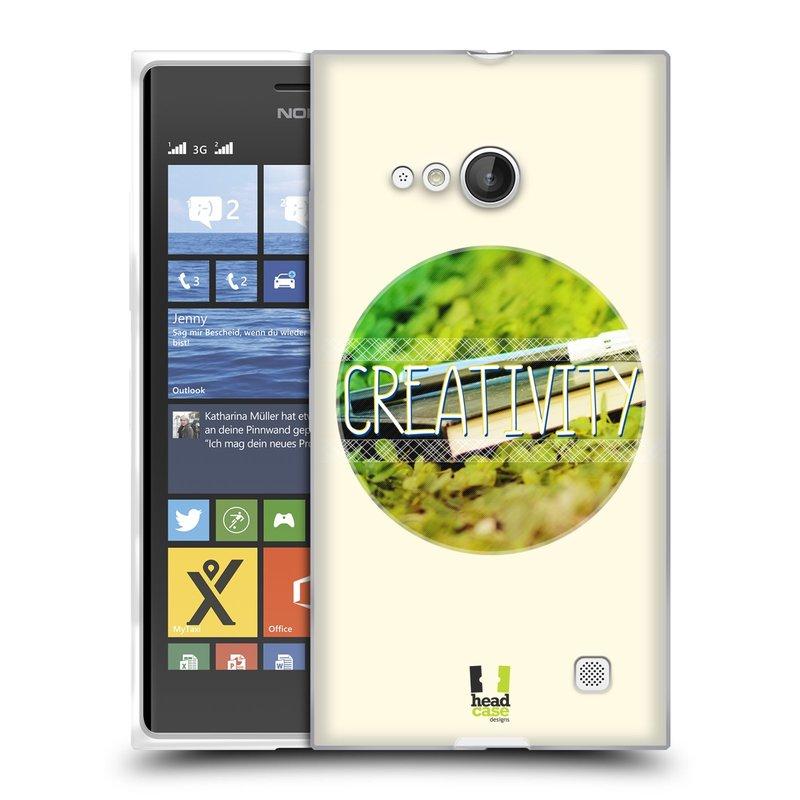 Silikonové pouzdro na mobil Nokia Lumia 730 Dual SIM HEAD CASE INSPIRACE V KRUHU KREATIVITA (Silikonový kryt či obal na mobilní telefon Nokia Lumia 730 Dual SIM)