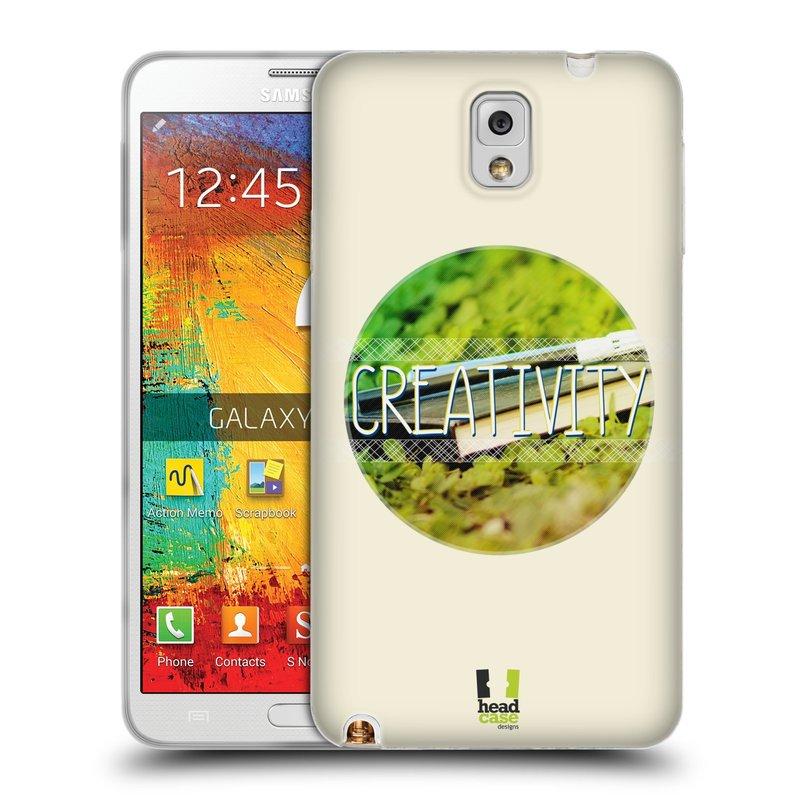 Silikonové pouzdro na mobil Samsung Galaxy Note 3 HEAD CASE INSPIRACE V KRUHU KREATIVITA (Silikonový kryt či obal na mobilní telefon Samsung Galaxy Note 3 SM-N9005)