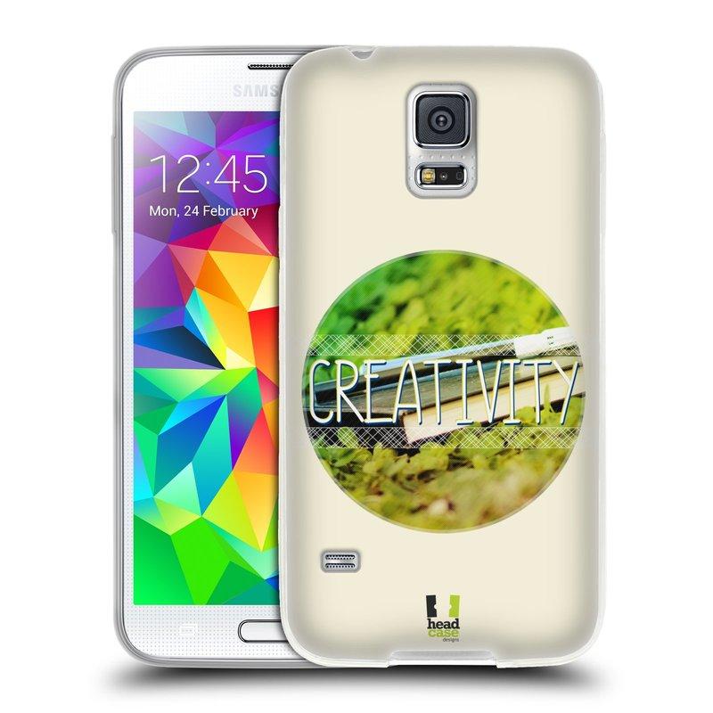 Silikonové pouzdro na mobil Samsung Galaxy S5 HEAD CASE INSPIRACE V KRUHU KREATIVITA (Silikonový kryt či obal na mobilní telefon Samsung Galaxy S5 SM-G900F)