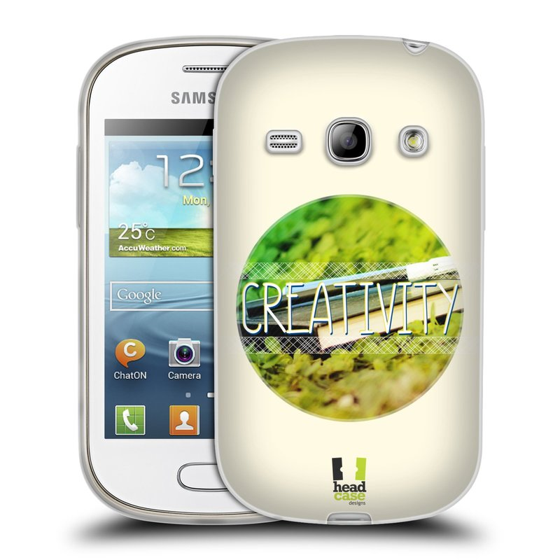 Silikonové pouzdro na mobil Samsung Galaxy Fame HEAD CASE INSPIRACE V KRUHU KREATIVITA (Silikonový kryt či obal na mobilní telefon Samsung Galaxy Fame GT-S6810)
