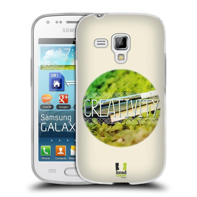 Silikonové pouzdro na mobil Samsung Galaxy S Duos HEAD CASE INSPIRACE V KRUHU KREATIVITA (Silikonový kryt či obal na mobilní telefon Samsung Galaxy S Duos GT-S7562)