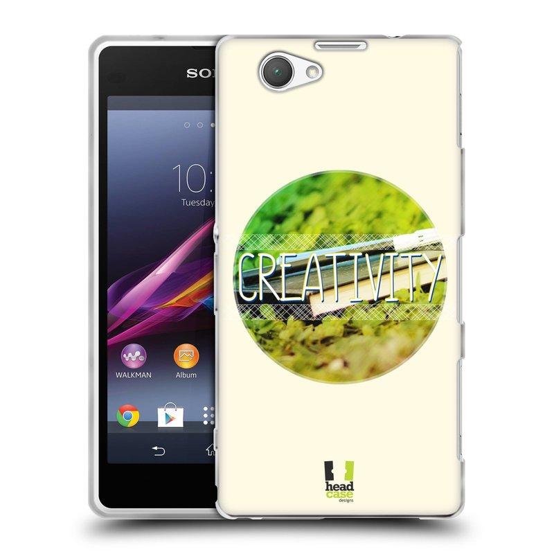 Silikonové pouzdro na mobil Sony Xperia Z1 Compact D5503 HEAD CASE INSPIRACE V KRUHU KREATIVITA (Silikonový kryt či obal na mobilní telefon Sony Xperia Z1 Compact)