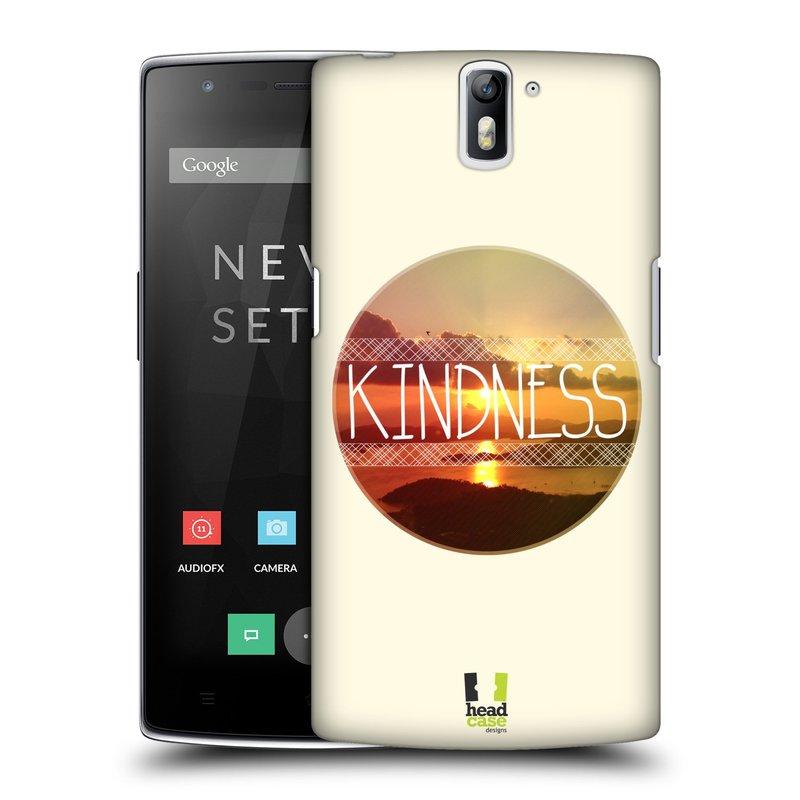 Plastové pouzdro na mobil OnePlus One HEAD CASE INSPIRACE V KRUHU LASKAVOST (Kryt či obal na mobilní telefon OnePlus One)