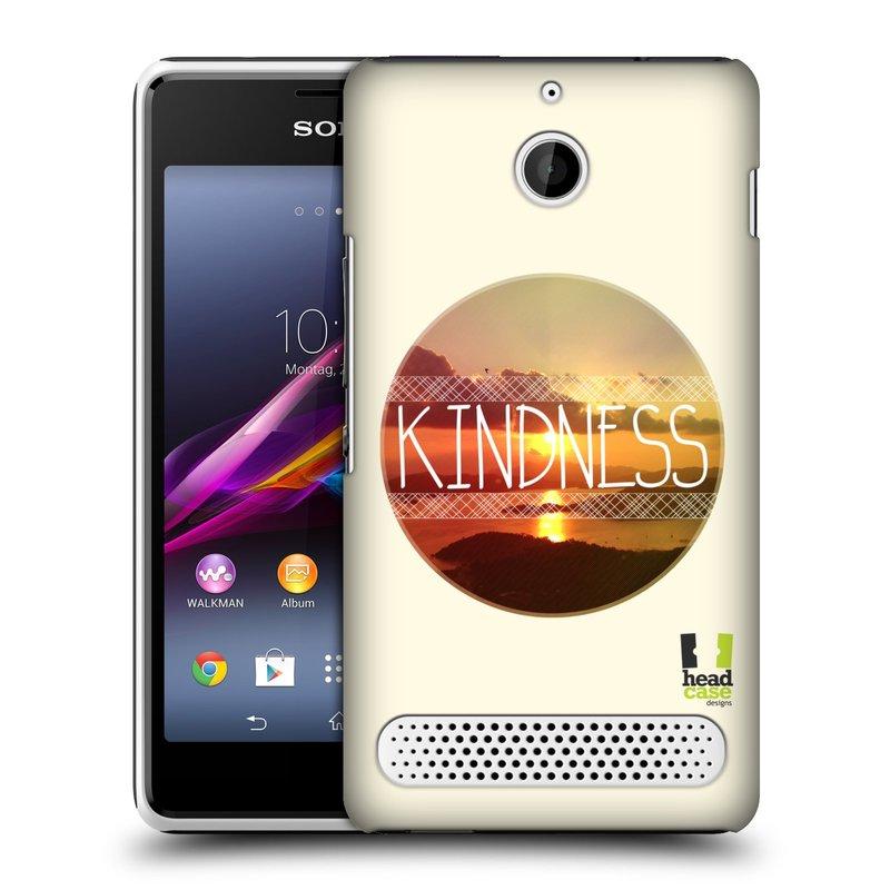 Plastové pouzdro na mobil Sony Xperia E1 D2005 HEAD CASE INSPIRACE V KRUHU LASKAVOST (Kryt či obal na mobilní telefon Sony Xperia E1 a E1 Dual )