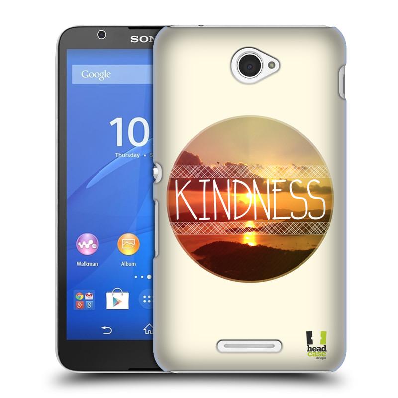 Plastové pouzdro na mobil Sony Xperia E4 E2105 HEAD CASE INSPIRACE V KRUHU LASKAVOST (Kryt či obal na mobilní telefon Sony Xperia E4 a E4 Dual SIM)