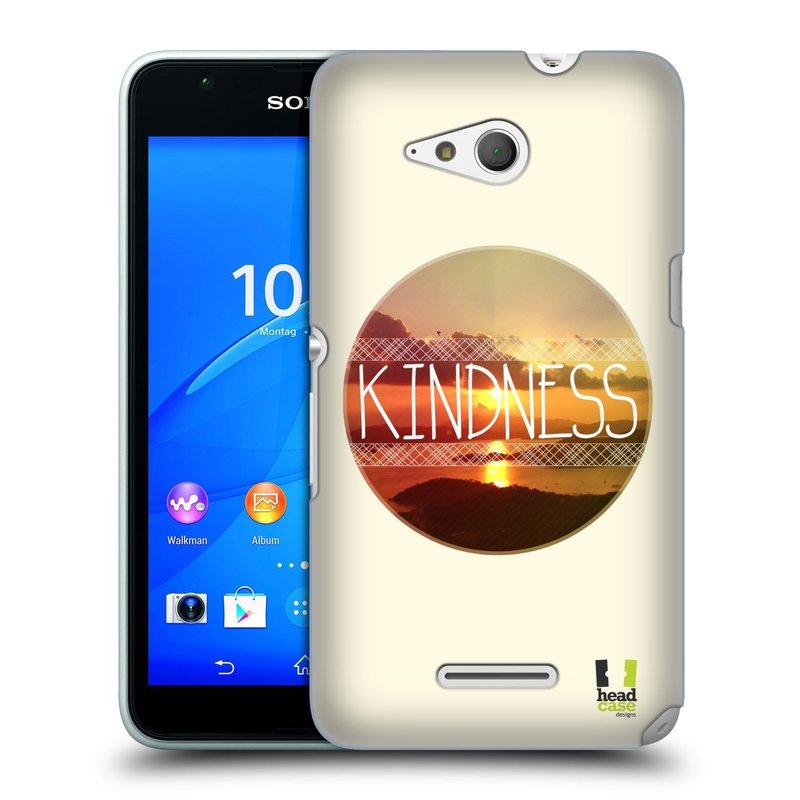 Plastové pouzdro na mobil Sony Xperia E4g E2003 HEAD CASE INSPIRACE V KRUHU LASKAVOST (Kryt či obal na mobilní telefon Sony Xperia E4g a E4g Dual SIM)