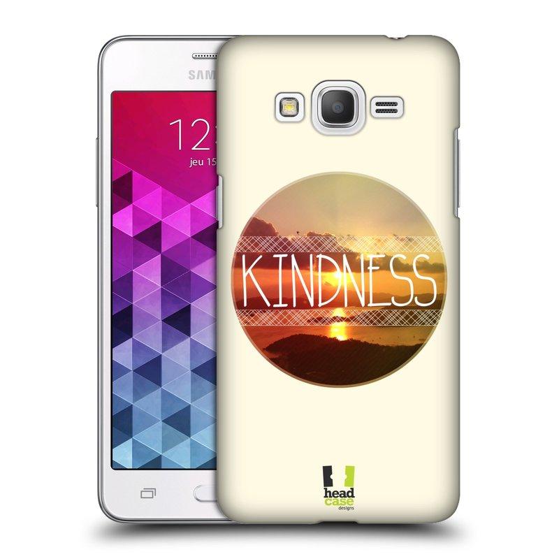 Plastové pouzdro na mobil Samsung Galaxy Grand Prime HEAD CASE INSPIRACE V KRUHU LASKAVOST (Kryt či obal na mobilní telefon Samsung Galaxy Grand Prime SM-G530)