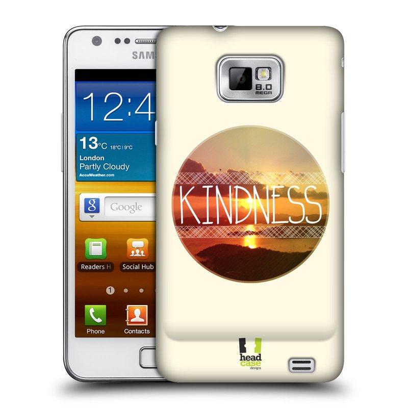 Plastové pouzdro na mobil Samsung Galaxy S II HEAD CASE INSPIRACE V KRUHU LASKAVOST (Kryt či obal na mobilní telefon Samsung Galaxy S II GT-i9100)