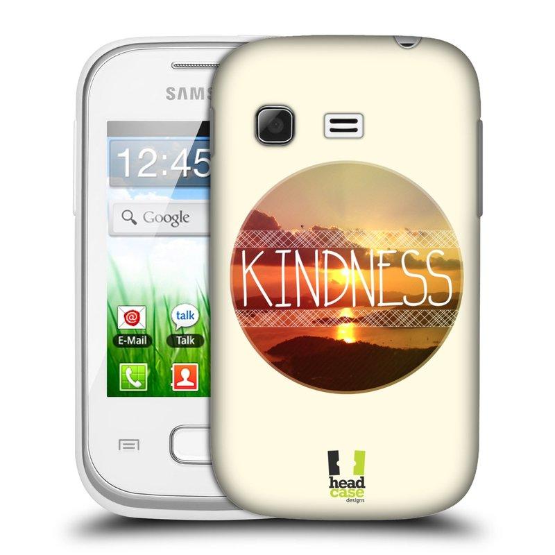 Plastové pouzdro na mobil Samsung Galaxy Pocket HEAD CASE INSPIRACE V KRUHU LASKAVOST (Kryt či obal na mobilní telefon Samsung Galaxy Pocket GT-S5300)