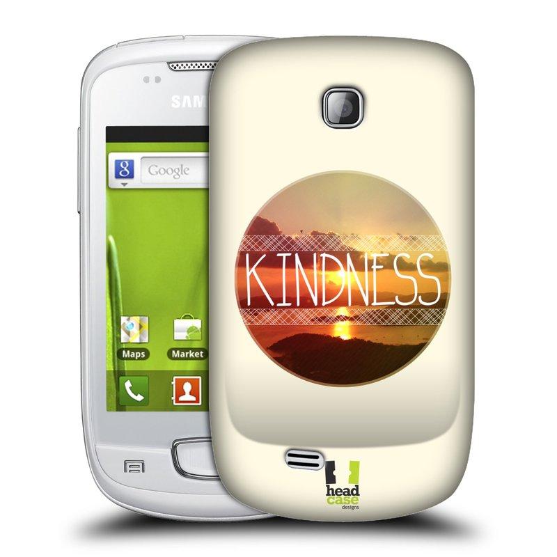 Plastové pouzdro na mobil Samsung Galaxy Mini HEAD CASE INSPIRACE V KRUHU LASKAVOST (Kryt či obal na mobilní telefon Samsung Galaxy Mini GT-S5570 / GT-S5570i)