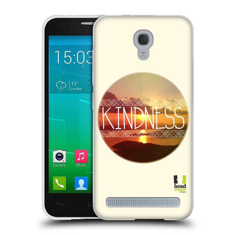 Silikonové pouzdro na mobil Alcatel One Touch Idol 2 Mini S 6036Y HEAD CASE INSPIRACE V KRUHU LASKAVOST (Silikonový kryt či obal na mobilní telefon Alcatel Idol 2 Mini S OT-6036Y)