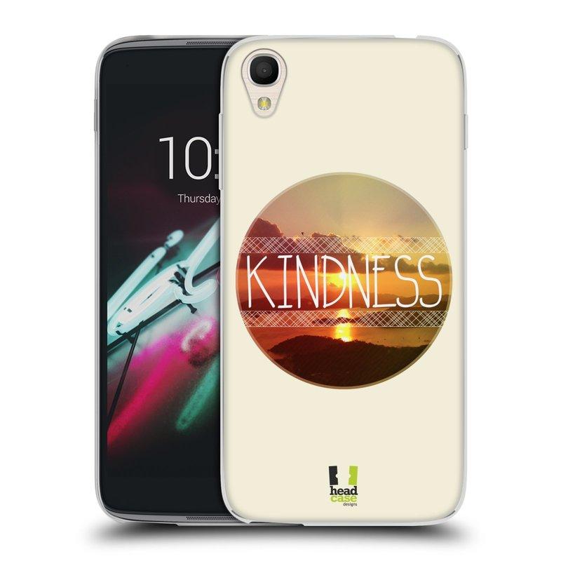 """Silikonové pouzdro na mobil Alcatel One Touch 6039Y Idol 3 HEAD CASE INSPIRACE V KRUHU LASKAVOST (Silikonový kryt či obal na mobilní telefon Alcatel One Touch Idol 3 OT-6039Y s 4,7"""" displejem)"""