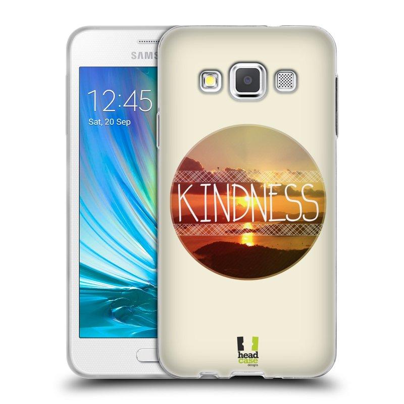 Silikonové pouzdro na mobil Samsung Galaxy A3 HEAD CASE INSPIRACE V KRUHU LASKAVOST (Silikonový kryt či obal na mobilní telefon Samsung Galaxy A3 SM-A300)