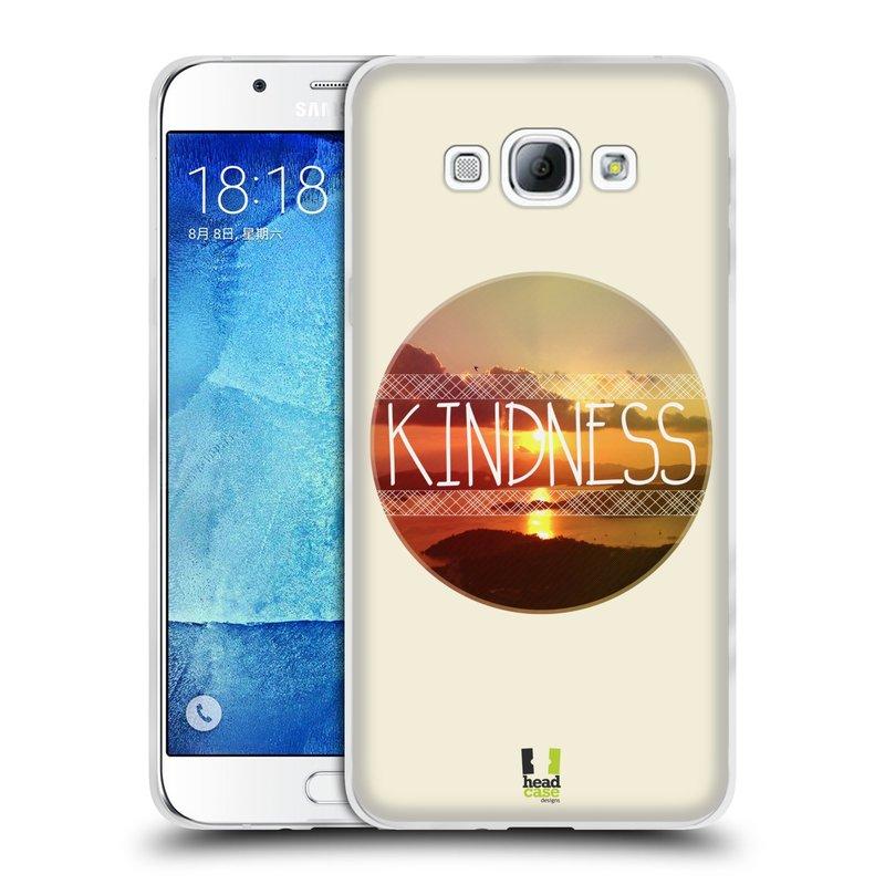 Silikonové pouzdro na mobil Samsung Galaxy A8 HEAD CASE INSPIRACE V KRUHU LASKAVOST (Silikonový kryt či obal na mobilní telefon Samsung Galaxy A8 SM-A800)