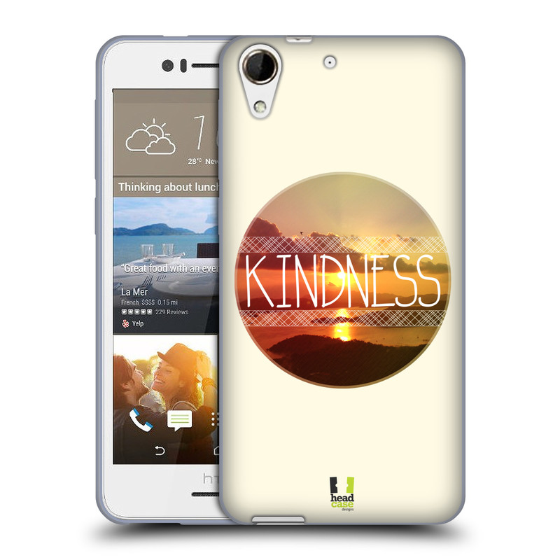 Silikonové pouzdro na mobil HTC Desire 728G Dual SIM HEAD CASE INSPIRACE V KRUHU LASKAVOST (Silikonový kryt či obal na mobilní telefon HTC Desire 728 G Dual SIM)