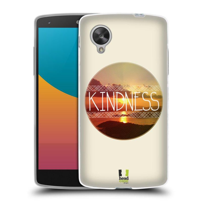 Silikonové pouzdro na mobil LG Nexus 5 HEAD CASE INSPIRACE V KRUHU LASKAVOST (Silikonový kryt či obal na mobilní telefon LG Google Nexus 5 D821)