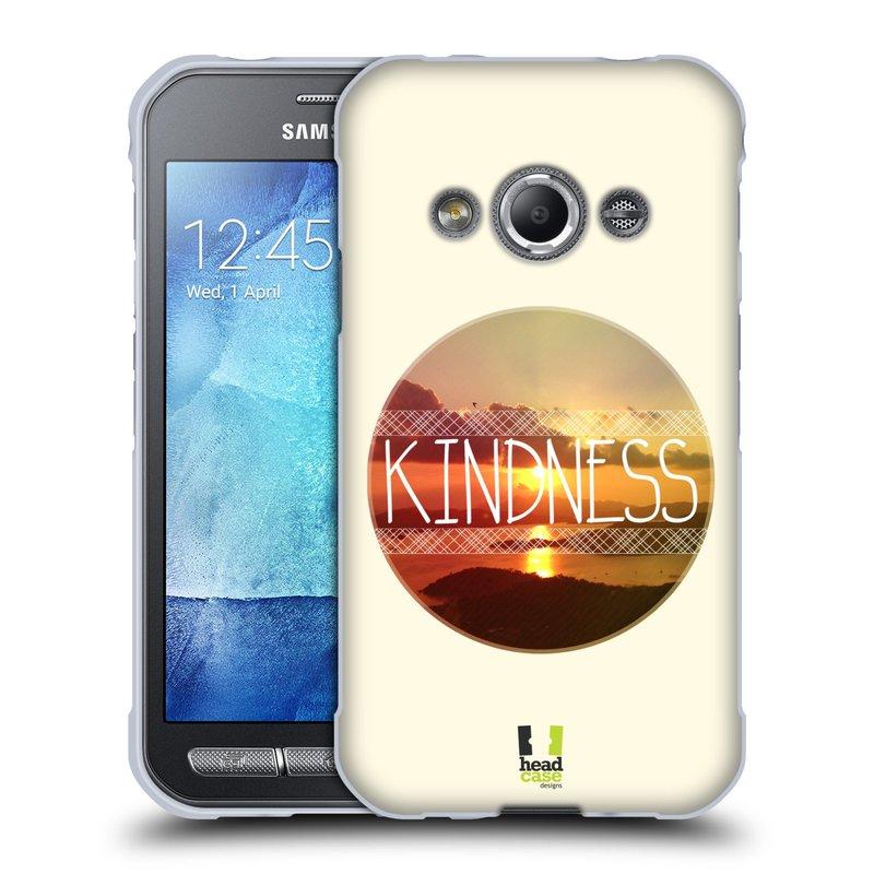 Silikonové pouzdro na mobil Samsung Galaxy Xcover 3 HEAD CASE INSPIRACE V KRUHU LASKAVOST (Silikonový kryt či obal na mobilní telefon Samsung Galaxy Xcover 3 SM-G388F)
