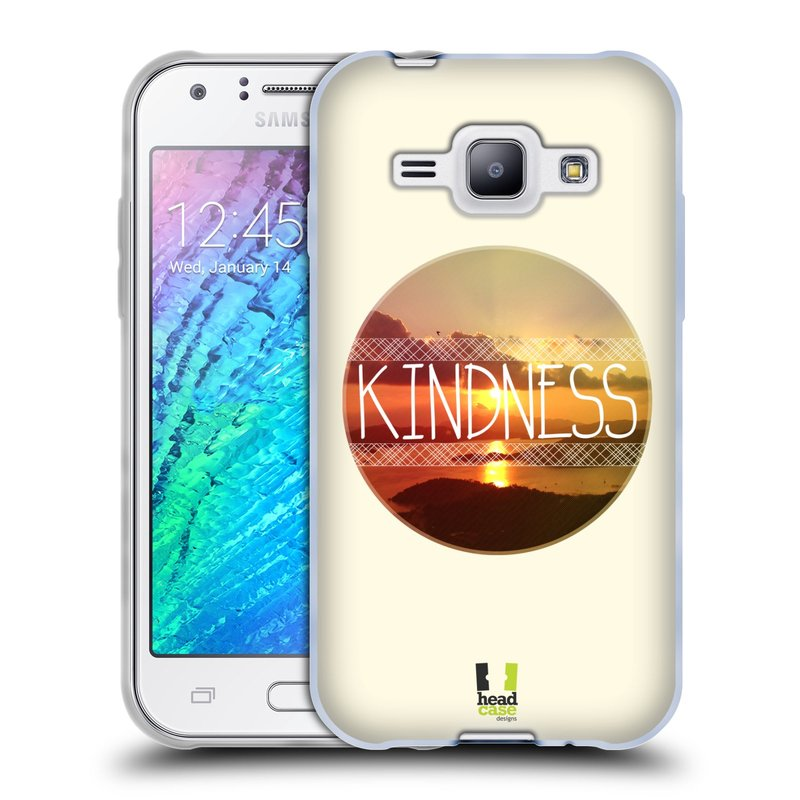 Silikonové pouzdro na mobil Samsung Galaxy J1 HEAD CASE INSPIRACE V KRUHU LASKAVOST (Silikonový kryt či obal na mobilní telefon Samsung Galaxy J1 a J1 Duos)