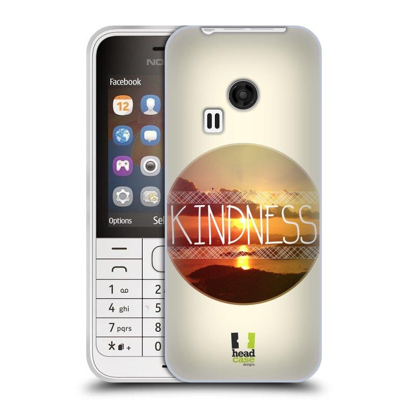 Silikonové pouzdro na mobil Nokia 220 HEAD CASE INSPIRACE V KRUHU LASKAVOST (Silikonový kryt či obal na mobilní telefon Nokia 220 a 220 Dual SIM)