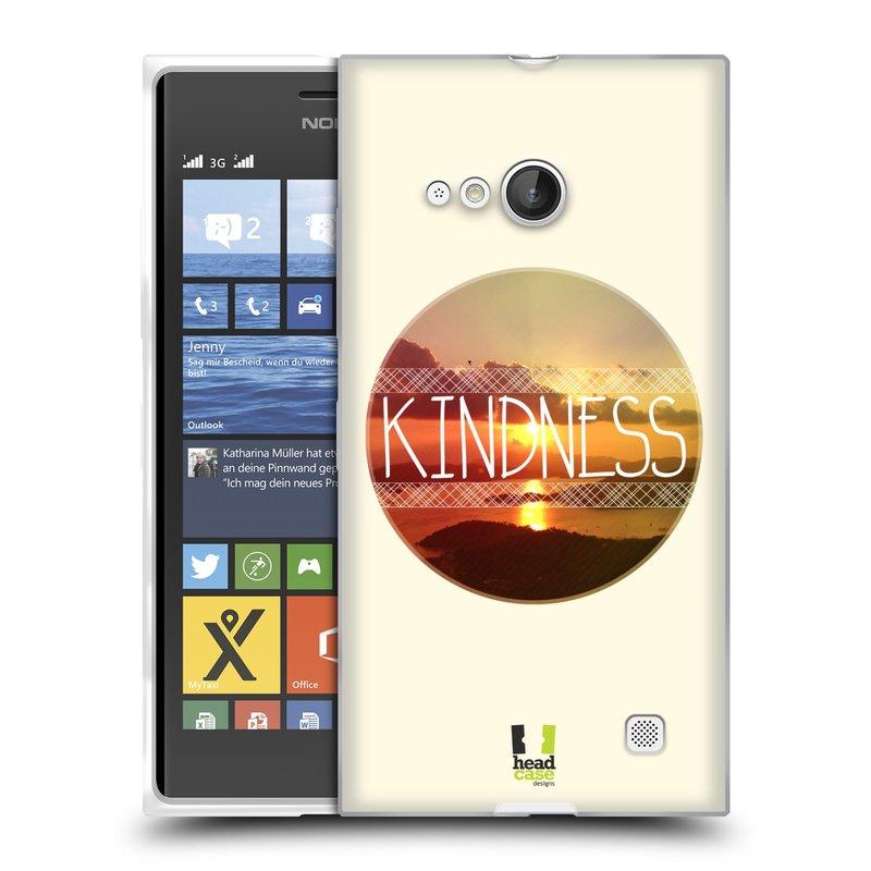 Silikonové pouzdro na mobil Nokia Lumia 730 Dual SIM HEAD CASE INSPIRACE V KRUHU LASKAVOST (Silikonový kryt či obal na mobilní telefon Nokia Lumia 730 Dual SIM)