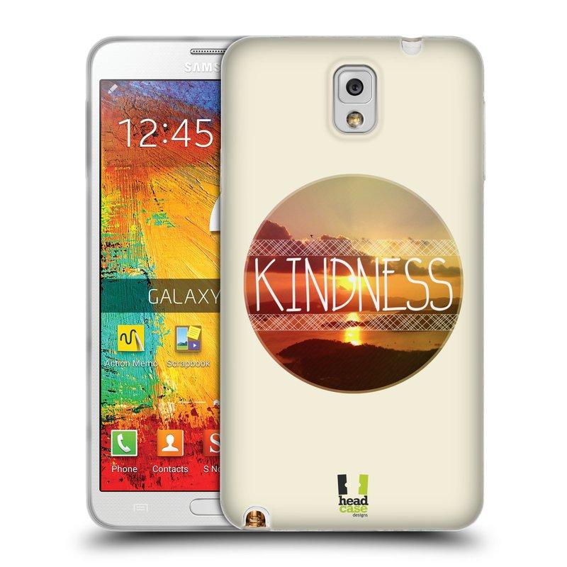Silikonové pouzdro na mobil Samsung Galaxy Note 3 HEAD CASE INSPIRACE V KRUHU LASKAVOST (Silikonový kryt či obal na mobilní telefon Samsung Galaxy Note 3 SM-N9005)