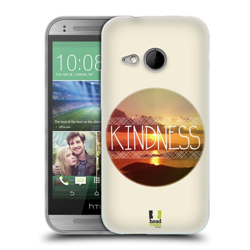Silikonové pouzdro na mobil HTC ONE Mini 2 HEAD CASE INSPIRACE V KRUHU LASKAVOST (Silikonový kryt či obal na mobilní telefon HTC ONE Mini 2)