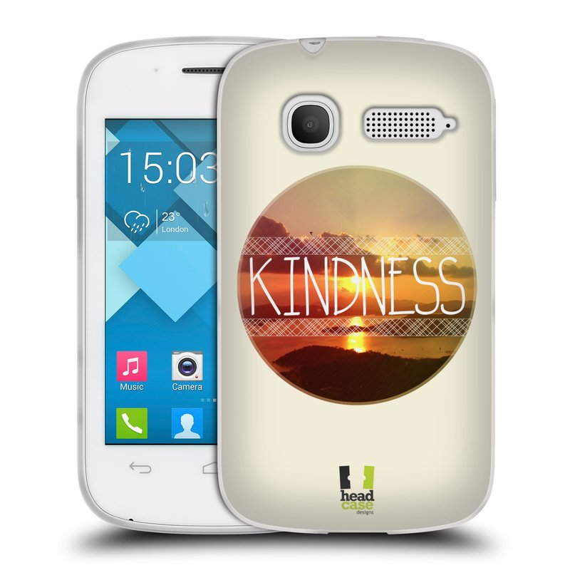Silikonové pouzdro na mobil Alcatel One Touch Pop C1 HEAD CASE INSPIRACE V KRUHU LASKAVOST (Silikonový kryt či obal na mobilní telefon Alcatel OT-4015D POP C1)
