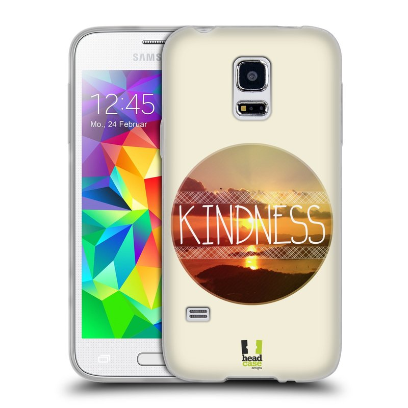 Silikonové pouzdro na mobil Samsung Galaxy S5 Mini HEAD CASE INSPIRACE V KRUHU LASKAVOST (Silikonový kryt či obal na mobilní telefon Samsung Galaxy S5 Mini SM-G800F)