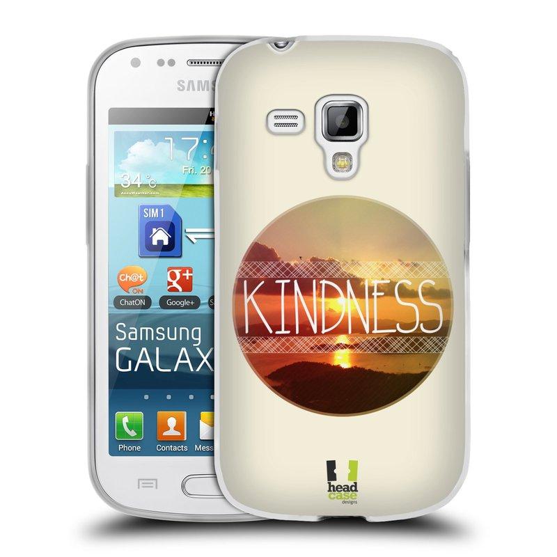 Silikonové pouzdro na mobil Samsung Galaxy S Duos HEAD CASE INSPIRACE V KRUHU LASKAVOST (Silikonový kryt či obal na mobilní telefon Samsung Galaxy S Duos GT-S7562)