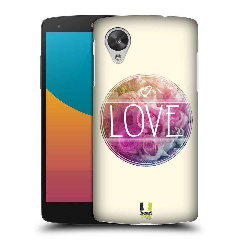 Plastové pouzdro na mobil LG Nexus 5 HEAD CASE INSPIRACE V KRUHU LÁSKA (Kryt či obal na mobilní telefon LG Google Nexus 5 D821)