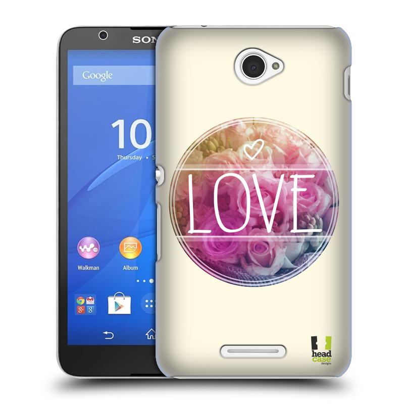 Plastové pouzdro na mobil Sony Xperia E4 E2105 HEAD CASE INSPIRACE V KRUHU LÁSKA (Kryt či obal na mobilní telefon Sony Xperia E4 a E4 Dual SIM)