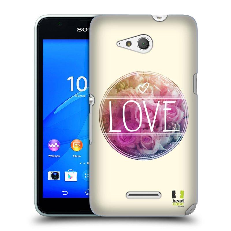 Plastové pouzdro na mobil Sony Xperia E4g E2003 HEAD CASE INSPIRACE V KRUHU LÁSKA (Kryt či obal na mobilní telefon Sony Xperia E4g a E4g Dual SIM)