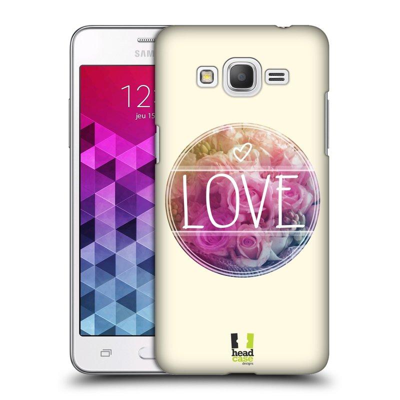 Plastové pouzdro na mobil Samsung Galaxy Grand Prime HEAD CASE INSPIRACE V KRUHU LÁSKA (Kryt či obal na mobilní telefon Samsung Galaxy Grand Prime SM-G530)