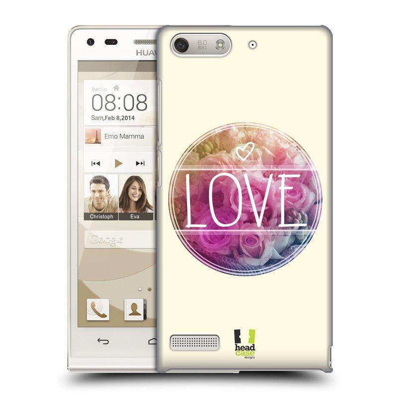 Plastové pouzdro na mobil Huawei Ascend G6 HEAD CASE INSPIRACE V KRUHU LÁSKA (Kryt či obal na mobilní telefon Huawei Ascend G6 bez LTE)