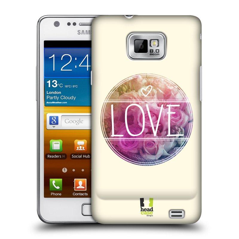 Plastové pouzdro na mobil Samsung Galaxy S II HEAD CASE INSPIRACE V KRUHU LÁSKA (Kryt či obal na mobilní telefon Samsung Galaxy S II GT-i9100)
