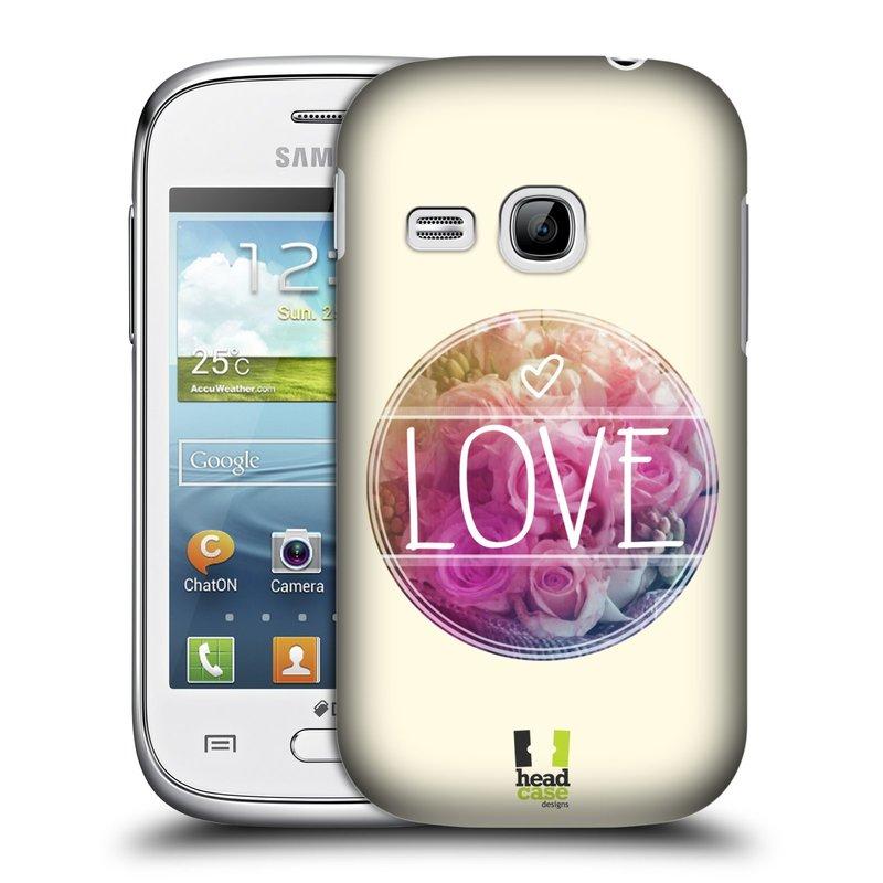 Plastové pouzdro na mobil Samsung Galaxy Young HEAD CASE INSPIRACE V KRUHU LÁSKA (Kryt či obal na mobilní telefon Samsung Galaxy Young GT-S6310)