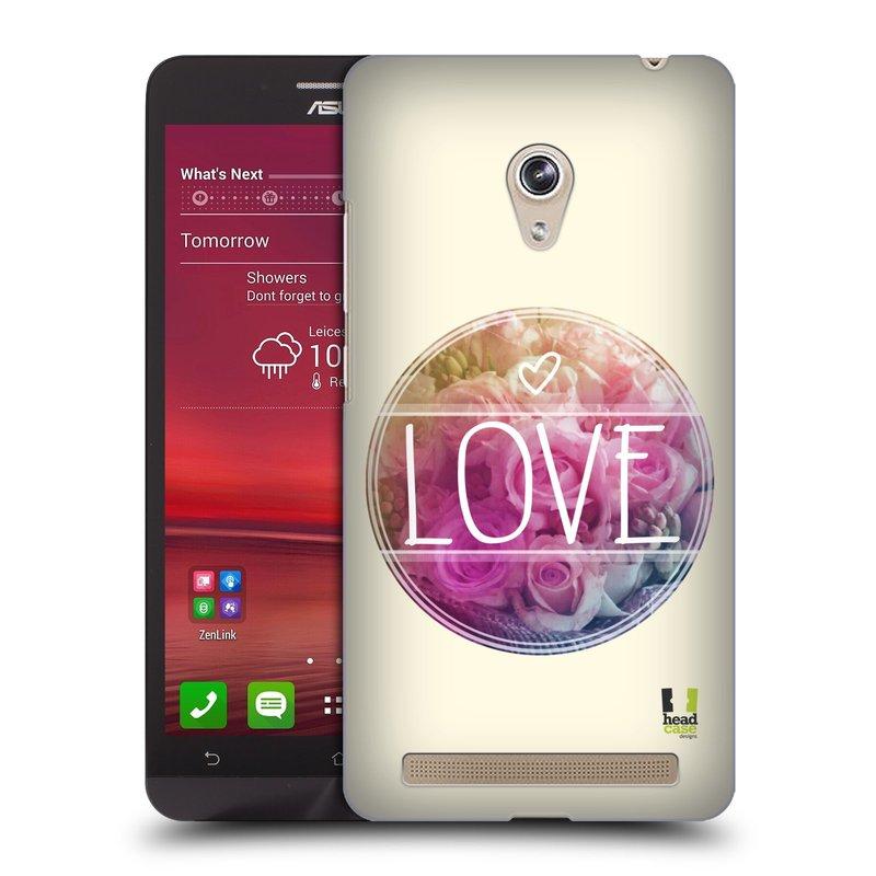 Plastové pouzdro na mobil Asus Zenfone 6 HEAD CASE INSPIRACE V KRUHU LÁSKA (Kryt či obal na mobilní telefon Asus Zenfone 6 A600CG / A601CG)
