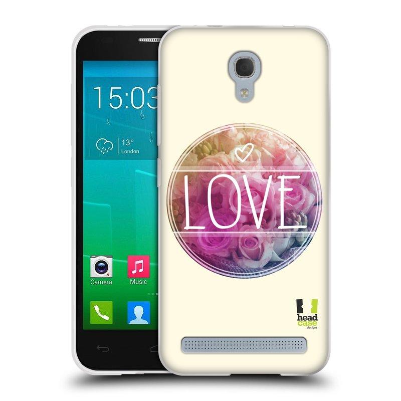 Silikonové pouzdro na mobil Alcatel One Touch Idol 2 Mini S 6036Y HEAD CASE INSPIRACE V KRUHU LÁSKA (Silikonový kryt či obal na mobilní telefon Alcatel Idol 2 Mini S OT-6036Y)