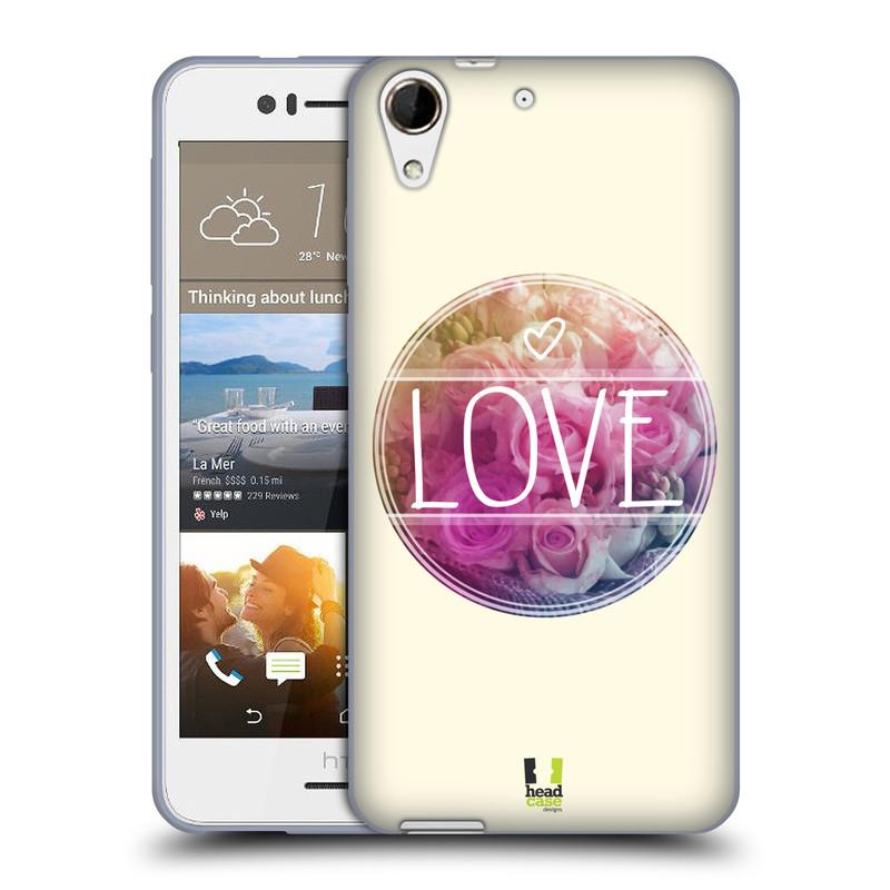 Silikonové pouzdro na mobil HTC Desire 728G Dual SIM HEAD CASE INSPIRACE V KRUHU LÁSKA (Silikonový kryt či obal na mobilní telefon HTC Desire 728 G Dual SIM)