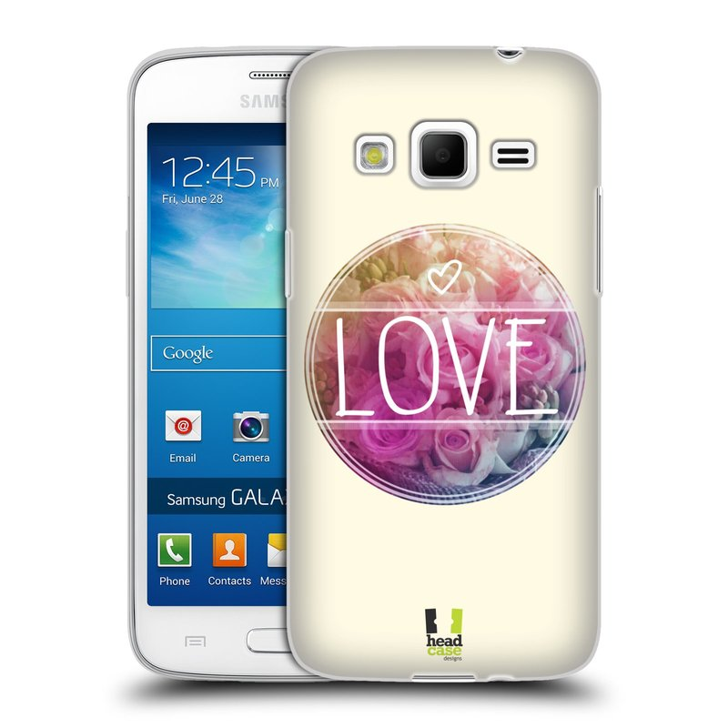 Silikonové pouzdro na mobil Samsung Galaxy Express 2 HEAD CASE INSPIRACE V KRUHU LÁSKA (Silikonový kryt či obal na mobilní telefon Samsung Galaxy Express 2 SM-G3815)