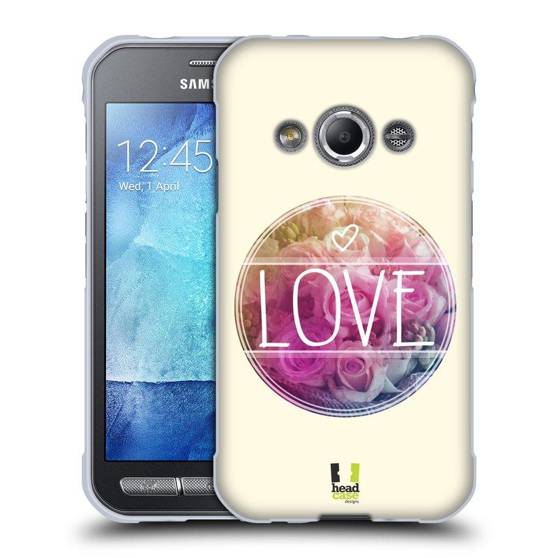 Silikonové pouzdro na mobil Samsung Galaxy Xcover 3 HEAD CASE INSPIRACE V KRUHU LÁSKA (Silikonový kryt či obal na mobilní telefon Samsung Galaxy Xcover 3 SM-G388F)
