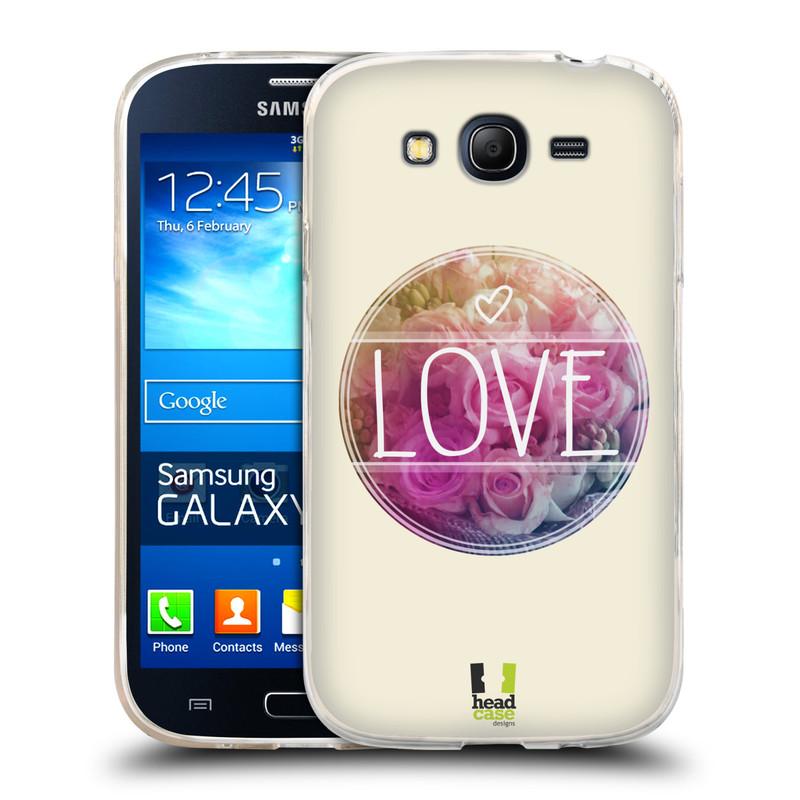 Silikonové pouzdro na mobil Samsung Galaxy Grand Neo HEAD CASE INSPIRACE V KRUHU LÁSKA (Silikonový kryt či obal na mobilní telefon Samsung Galaxy Grand Neo GT-I9060)