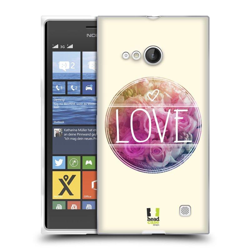 Silikonové pouzdro na mobil Nokia Lumia 730 Dual SIM HEAD CASE INSPIRACE V KRUHU LÁSKA (Silikonový kryt či obal na mobilní telefon Nokia Lumia 730 Dual SIM)