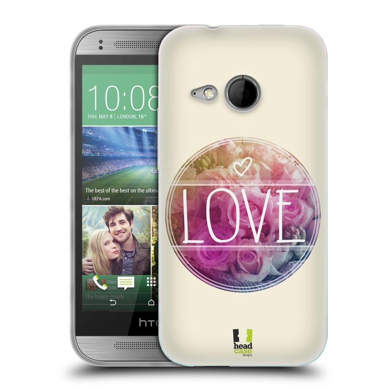Silikonové pouzdro na mobil HTC ONE Mini 2 HEAD CASE INSPIRACE V KRUHU LÁSKA (Silikonový kryt či obal na mobilní telefon HTC ONE Mini 2)