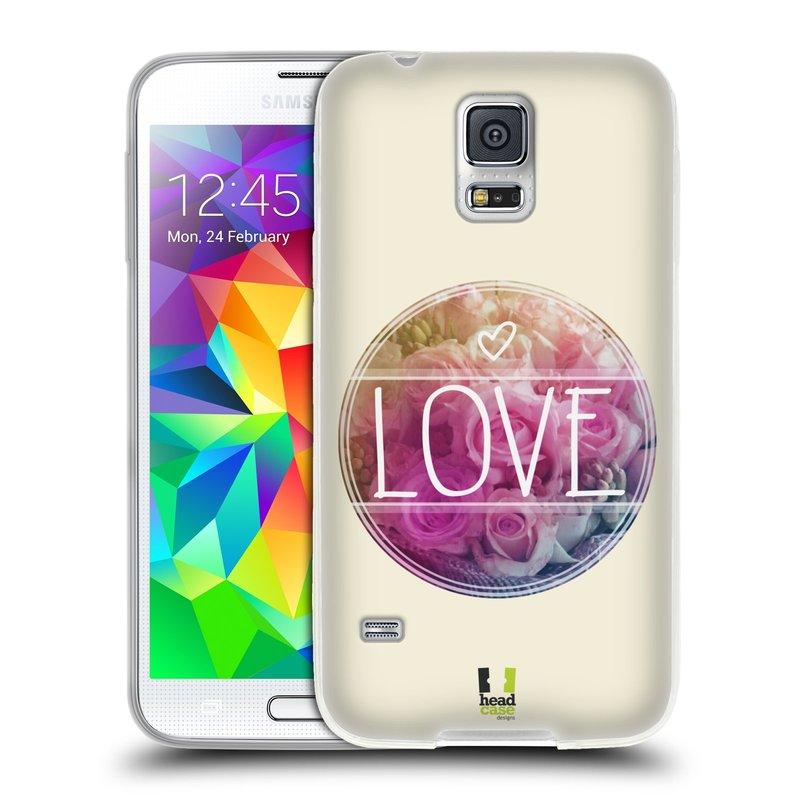 Silikonové pouzdro na mobil Samsung Galaxy S5 HEAD CASE INSPIRACE V KRUHU LÁSKA (Silikonový kryt či obal na mobilní telefon Samsung Galaxy S5 SM-G900F)