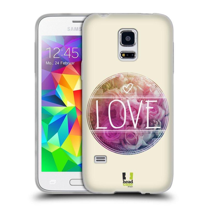 Silikonové pouzdro na mobil Samsung Galaxy S5 Mini HEAD CASE INSPIRACE V KRUHU LÁSKA (Silikonový kryt či obal na mobilní telefon Samsung Galaxy S5 Mini SM-G800F)