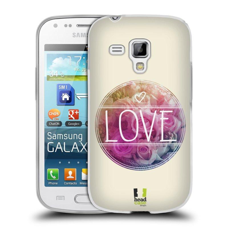 Silikonové pouzdro na mobil Samsung Galaxy S Duos HEAD CASE INSPIRACE V KRUHU LÁSKA (Silikonový kryt či obal na mobilní telefon Samsung Galaxy S Duos GT-S7562)