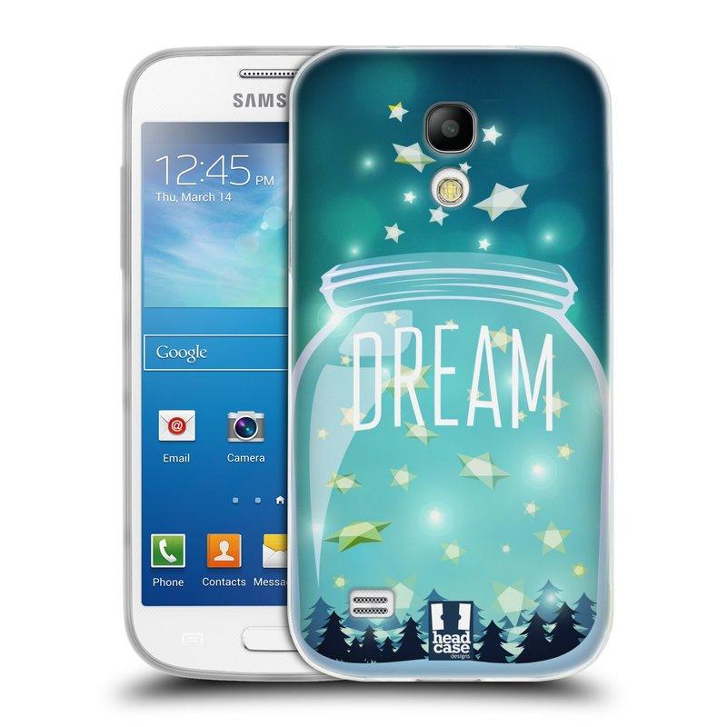 Silikonové pouzdro na mobil Samsung Galaxy S4 Mini VE HEAD CASE SKLENICE DREAM (Silikonový kryt či obal na mobilní telefon Samsung Galaxy S4 Mini VE GT-i9195i (nepasuje na verzi Black Edition))