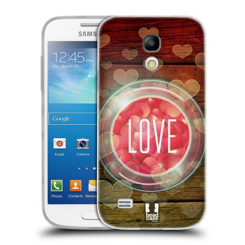 Silikonové pouzdro na mobil Samsung Galaxy S4 Mini VE HEAD CASE SKLENICE LOVE (Silikonový kryt či obal na mobilní telefon Samsung Galaxy S4 Mini VE GT-i9195i (nepasuje na verzi Black Edition))